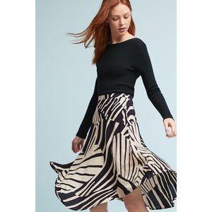 Maeve Ava Printed Midi Skirt